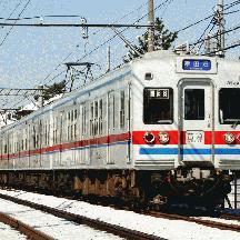 大雪の京成線@2008年2月 3 - 雪晴れを行く3300形