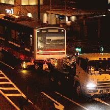 新京成N800形N838編成 印旛車両基地へ陸送