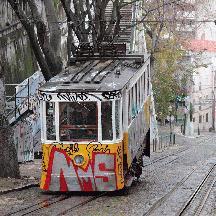 ポルトガル周遊の記 14 - リスボンのケーブルカー グロリア線