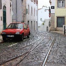 ポルトガル周遊の記 番外編 - リスボン市電のすごい配線