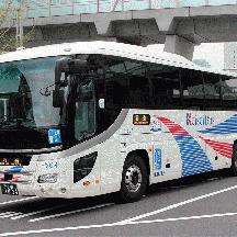 京成バスH504号車 リフト付き高速バスの実証実験