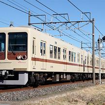 新京成8000形8512編成 茶色帯リバイバルカラー