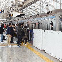京成線 日暮里駅ホームドアの作動状況を見る