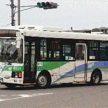 ちばレインボーバス308号車 ちばグリーンバスカラーのエルガミオ