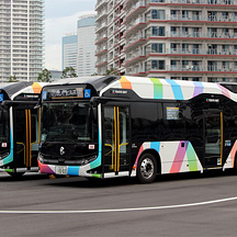 東京BRT プレ運行開始 2 - 東京BRTの車両たち