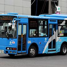 京成バス0313号車 カモメカラーのエアロミディME